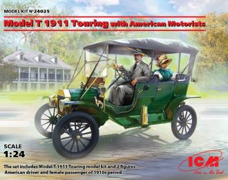 Сборная модель Model T 1911 Touring c американскими автолюбителями