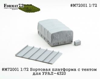 (ТрансКИТ) Бортовая платформа с тентом для Уральский грузовик 4320