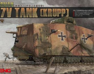 Сборная модель Немецкий тяжелый танк A7V с корпусом фирмы Krupp