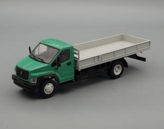 ГАЗон C41R33 бортовой, зеленый / серый