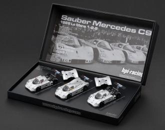 Sauber Mercedes C9 #61, #62, #63 Le Mans (1989), набор из 3-х моделей