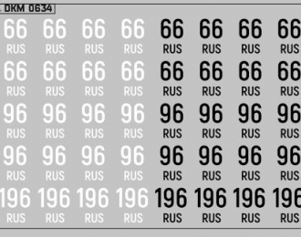 Набор декалей Дублирующие знаки России Свердловская область (100х70)