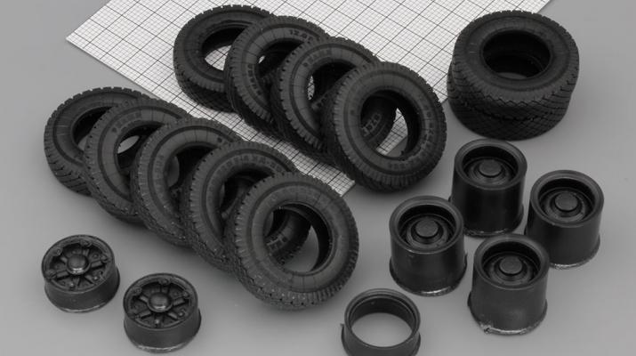 Резина, диски для МАЗ 514 6x4, компл. из 11 колес