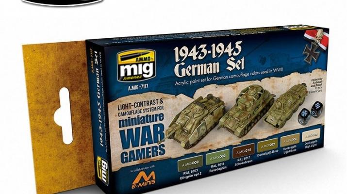 Набор красок WARGAME 1943-1945 GERMAN SET (цвета техники Германии1943-1945)