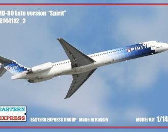 Сборная модель Авиалайнер MD-80 поздний Spirit (Limited Edision)