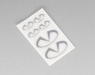 Наклейка объёмная металлизированная логотипы Infiniti