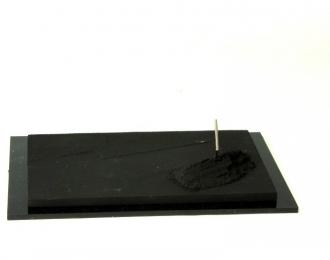 Декоративное основание тип-11 (125х80мм) асфальт, асфальтовая куча и лопата