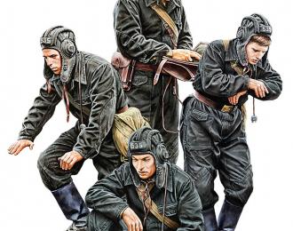 Сборная модель Советский танковый экипаж 50-гг. SOVIET TANK CREW 1950s