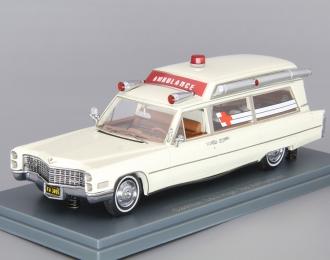 (Уценка!) CADILLAC S&S High Top Ambulance (1966), white