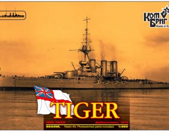"""Сборная модель Британский линейный крейсер HMS """"Tiger"""" (1914г.) (полный корпус)"""