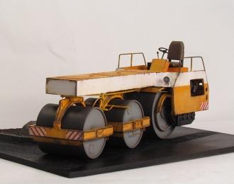 Каток дорожный ДУ-49, желто-белый