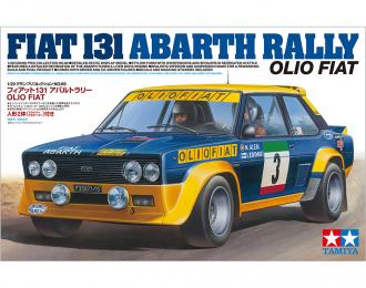 Сборная модель FIAT 131 Abarth Rally Olio с двумя фигурками пилотов