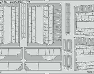 Фототравление для Beaufort Mk. I закрылки