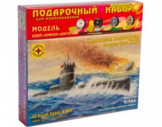 Сборная модель немецкая подводная лодка тип XXIII (подарочный набор)