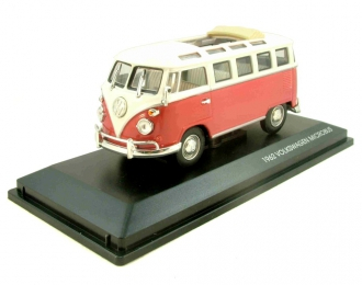 VOLKSWAGEN Microbus (1962), red / white