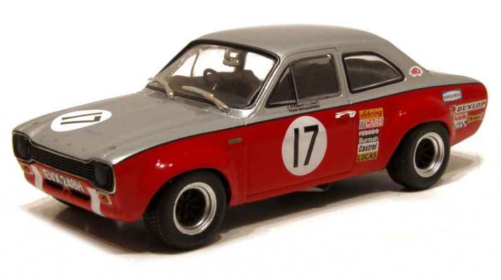 FORD Escort I TC #17 Team Broadspeed RAC TT Silverstone J.Stewart - Craft (1970), red-grey