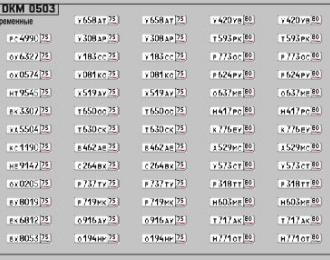 Набор декалей Номерные знаки России Забайкальский край (100х70)
