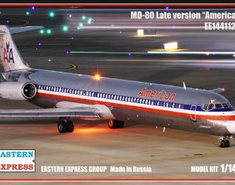 Сборная модель Авиалайнер MD-80 поздний American (Limited Edision)