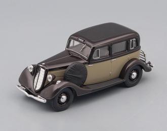 Горький М1 такси, темно-коричневый с серым