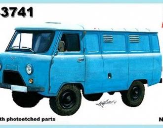 Сборная модель Российский автомобиль УаЗ-3741