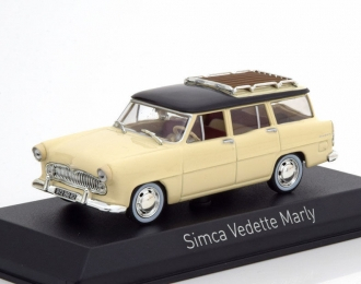 SIMCA Vedette Marly 1957 Paille Yellow/Black