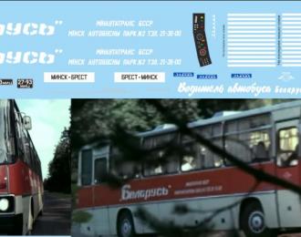 Набор декалей Икарус 250 к/ф Водитель автобуса