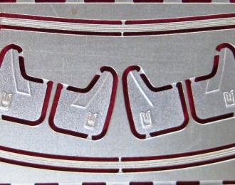 Фототравление Рамка лобового стекла и брызговики Москвич 2141 (DeAGOSTINI)