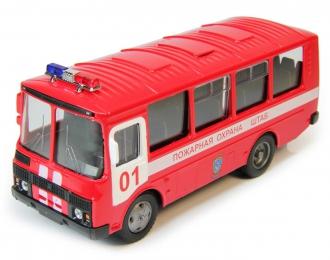 Павловский автобус 32053 Пожарная охрана, красный