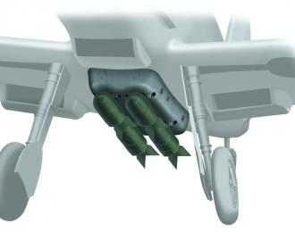 Сборная модель Набор для доработки Немецкий истребитель Messerschmitt Bf.109 E (набор бомб с подвеской)