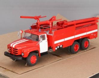 Автомобиль комбинированного тушения АКТ-2,5/3 (мод. 197) на базе ЗиЛ-133ГЯ, красный / белый