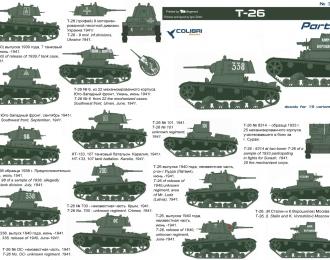 Декаль для Т-26 Part I