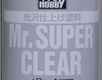 Mr.SUPER CLEAR GLOSS Прозрачный глянцевый аэрозольный лак, 170мл