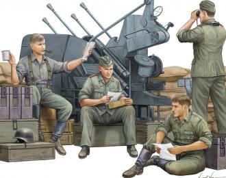 Сборная модель Солдаты  German Anti-Aircraft Gun Crew