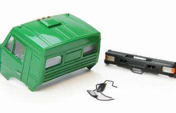 Спальная кабина для КАМАЗ (Евро-2, пластиковый бампер), зеленый