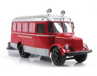 Курганский автобус 651 Пожарная Охрана, красный