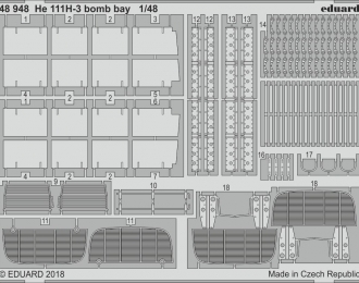 Фототравление для модели He 111H-3 boMERCEDES-BENZ bay