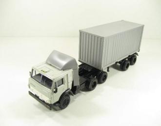 КАМАЗ 54112 контейнеровоз, серый