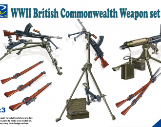 Сборная модель WWII British Commonwealth Weapon Set B
