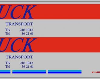 Набор декалей SovTRUCK для МАЗ-93971, вариант 2 (100х290)
