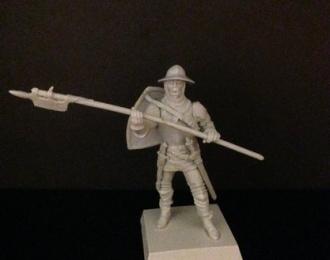 Генуэзский боец с алебардой (наемник), войско Мамая (54мм)