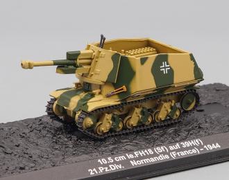 10,5 cm le.FH18 (Sf) auf 39H(f), 21.Pz.Div., France (1944)