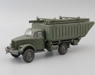 Транспортировщик понтонного звена ЛПП на базе Горький-63, хаки