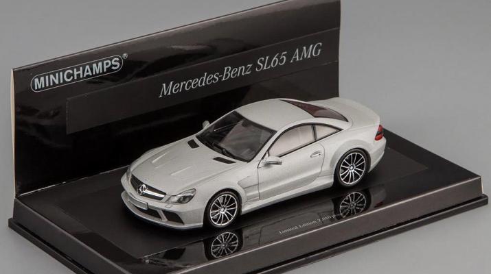MERCEDES-BENZ SL 65 AMG Black Series R230 Linea Opaca (2009), silver matt