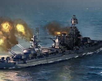 Сборная модель Американский военный корабль Texas BB-35