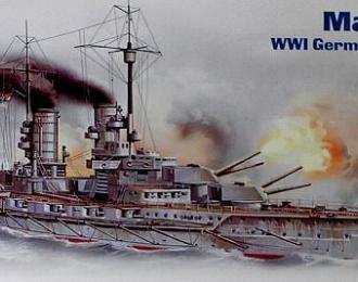 """Сборная модель """"Маркграф"""", германский линейный корабль Первой Мировой войны"""