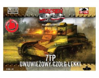 Сборная модель Польский легкий танк 7TP с двойной башней