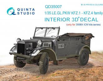 3D Декаль интерьера кабины для KFZ 1-4 (ICM)