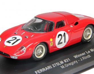 FERRARI 275LM #21 winner Le-Mans (M. Gregory - J. Rindt) (1965), red