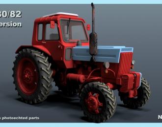 Сборная модель Трактор МТЗ-80/82