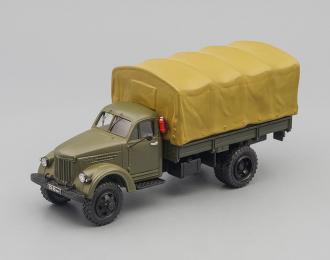 УралЗИС 381 бортовой с тентом, полноприводный, 1957